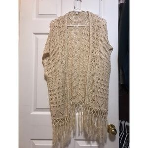Crochet shawl.